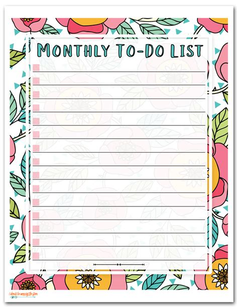 I Should Be Mopping The Floor Free Printable To Do List Daily Weekly Monthly To Do List Template