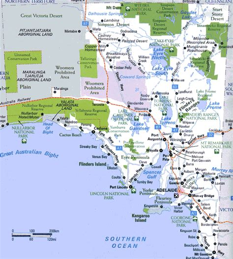 south australia map map of australia region political