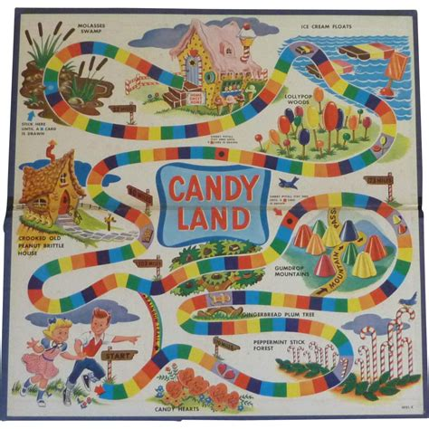 original land vintage original game candy land board from rarefinds on