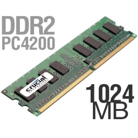 Ram Ddr2 Pc 4200 crucial 1024mb pc4200 ddr2 533mhz memory at tigerdirect