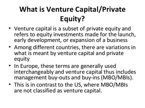 Ppt On Venture Capital For Mba Students by Ppt On Venture Capital And Its Types