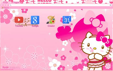 themes hello kitty c3 hello kitty 1 chrome theme themebeta