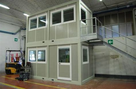 uffici prefabbricati da interno uffici prefabbricati due piani fonoassorbenti