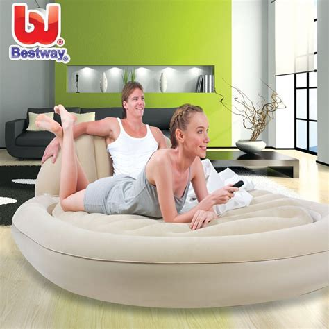 deluxe person oval flocking pvc mattress air bed amazing foldable ourdoor