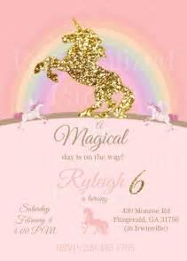 25 best ideas about unicorn birthday invitations on pinterest unicorn invitations rainbow
