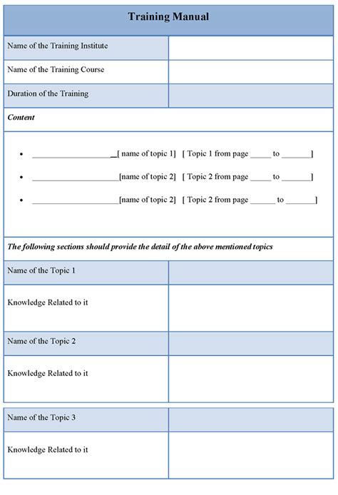Training Manual Template Madinbelgrade Coaching Guide Template