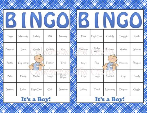 Baby Bingo Template Printable baby shower bingo template free images