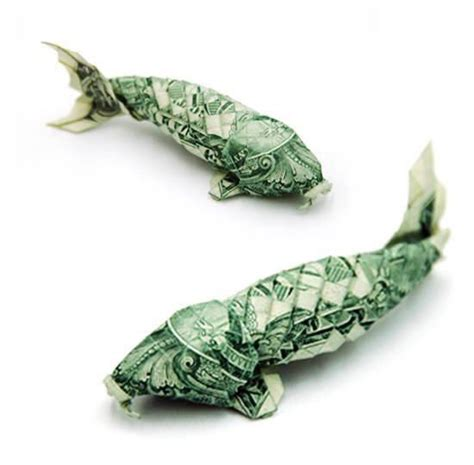 Catfish Dollar Origami - figuras de papiroflexia con billetes de dolar coloca