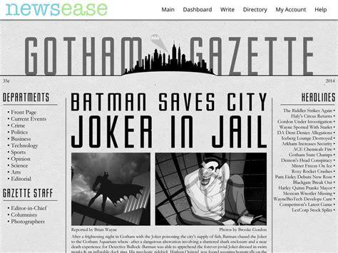 A News Paper - newsease gotham gazette sle newspaper by hlawver on