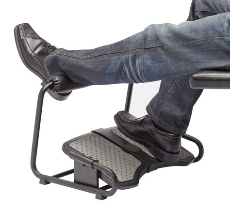 elevate leg at desk inzone footrest by sun flex ergocanada detailed