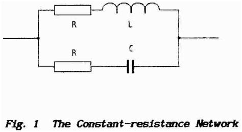 resistor inductor network information sheet 10 the constant resistance network