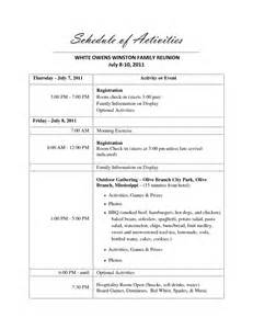 free family reunion planner templates family reunion agenda template 1 best agenda templates