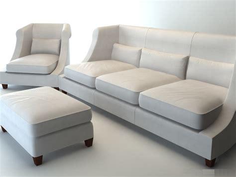 Leather Livingroom Set classic fabric sofa set 3d model 3dsmax wavefront 3ds
