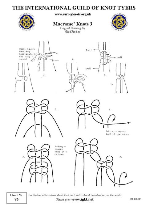 Macrame Knots Pdf - international guild of knot tyers surrey branch 86
