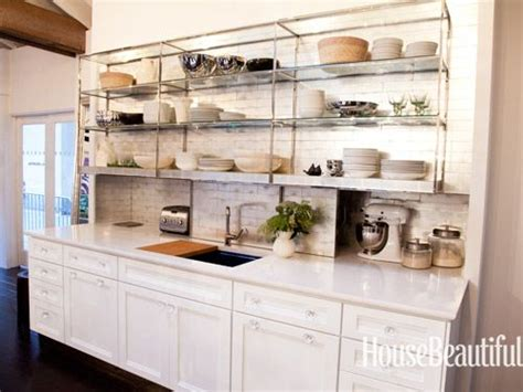Shelves Instead Of Kitchen Cabinets Beautiful Appliance Garage And Open Shelving On Pinterest