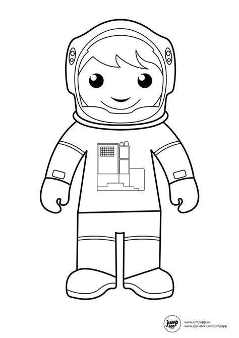 Astronaut Printable Coloring Pages Pinterest Astronaut Colouring Pages
