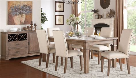 Mill Dining Room by Mill Valley Weathered Wash Extendable Dining Room Set From Homelegance 5108 84 Coleman Furniture