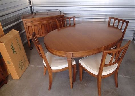 mid century dining room furniture mid century modern dining set drexel triune oval table