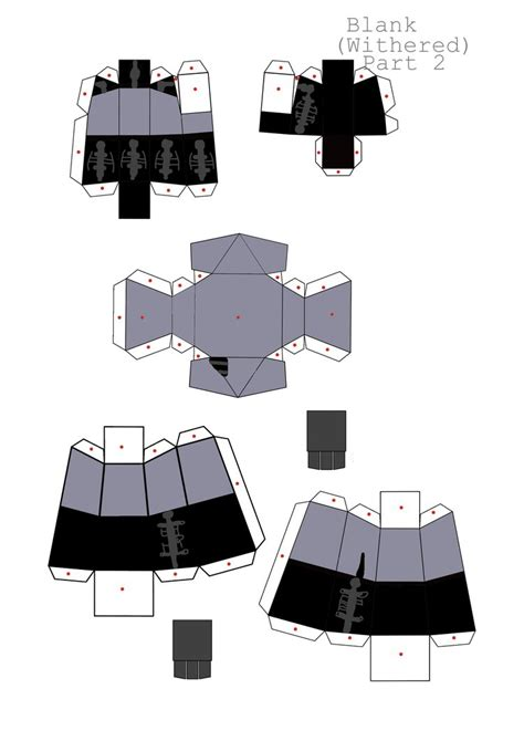 Blank Papercraft - blank withered part 2 papercraft by papercraft4you on