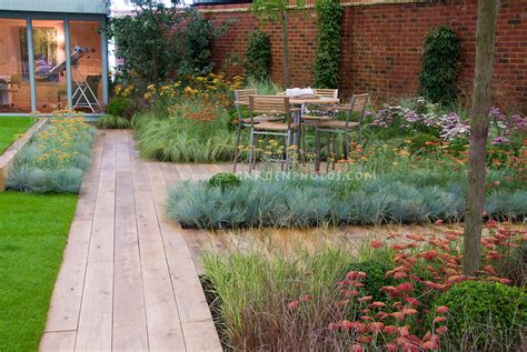 xeriscaping backyard deck landscaping with wooden path