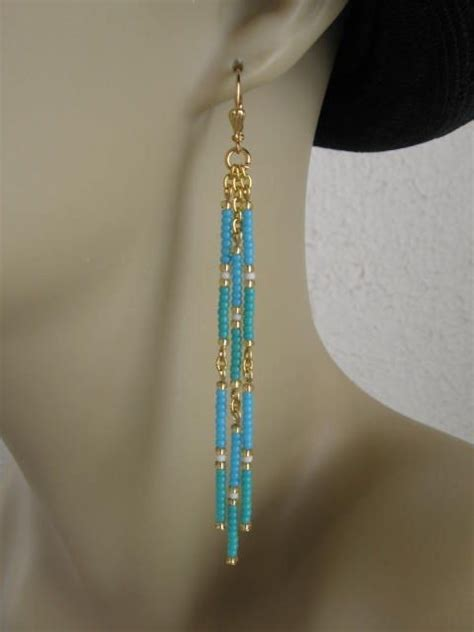 Bead Dangle Earrings seed bead dangle earrings