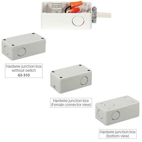 cabinet lighting junction box nuvo 63 310 junction box for nuvo light bars