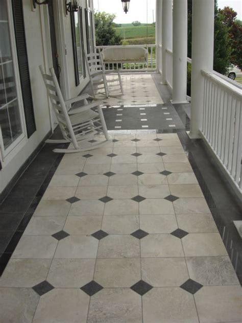 marble granite front porch porch tile tile design tiles