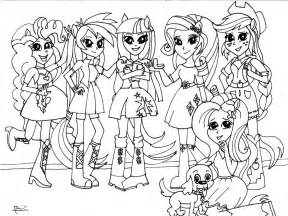 Coloring Page My Little Pony Equestria Girls Kleurplaat My Pony Equestria Coloring Printable