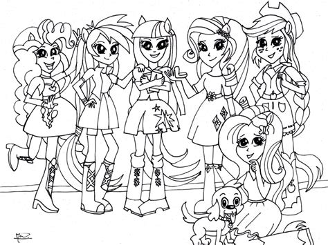 coloring page my little pony equestria girls kleurplaat