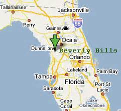 Beverly Hills Florida Map by Sighting Reports 2006