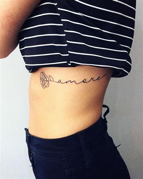 rose script tattoo 25 best ideas about rib tattoos on