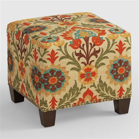 ottoman world market adobe santa maria mckenzie upholstered ottoman world market