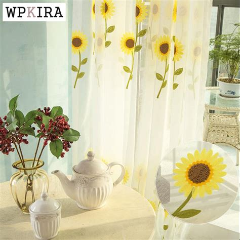 sunflower kitchen curtains compare prices on sunflower kitchen curtains