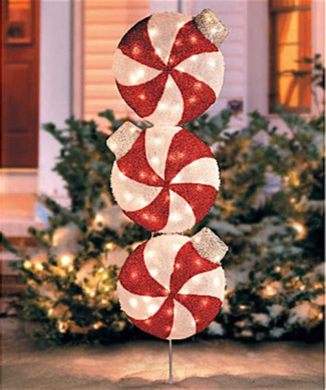 lighted peppermint christmas yard art contemporary