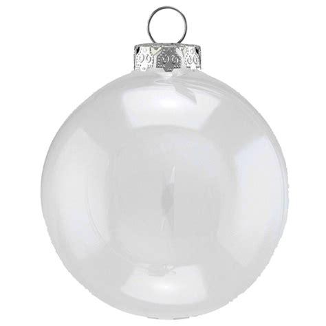 8cm clear baubles christmasshop