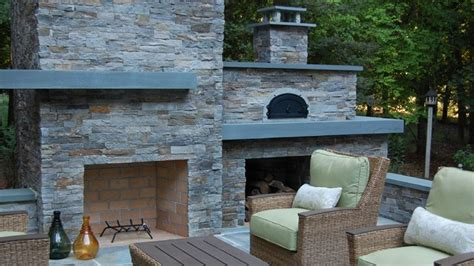 Standalone Kitchen Cabinet outdoor fireplace pizza oven modern landscape