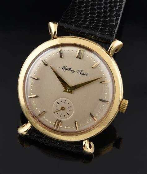 mathey tissot solid gold vintage watchestobuy