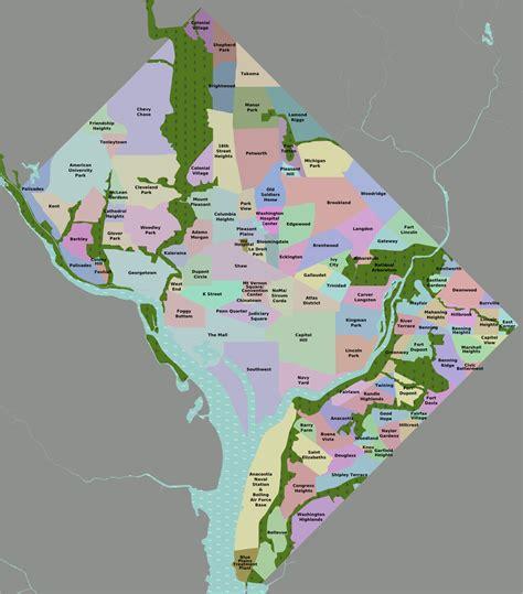 dc neighborhood map map of washington dc neighborhoods