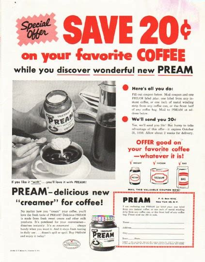 pream vintage ad special offer