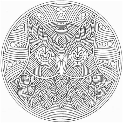 owl mandala coloring pages for adults mandala coloring pages free printable abstract