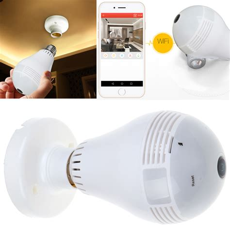 Ip Bulb 3d 360 degree panoramic 960p mini wifi light bulbs security ip ebay