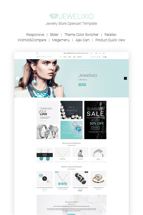 bootstrap templates for jewellery jewelixio jewelry store opencart template 66815