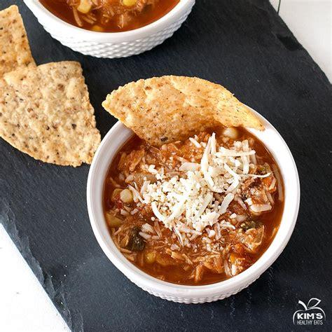 crockpot chicken tortilla soup with black beans corn slow cooker recipe dishmaps