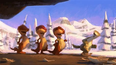 ice age concept art storyboard sketchesconcepts