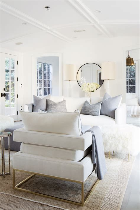 light and bright all white living room with touches of