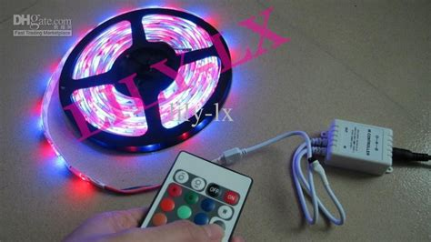 led light strips for sale top sale ip65 rgb led light strips transformer 24 key ir controller 5m light dhl led