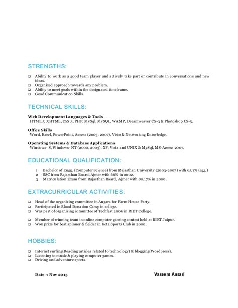 fantastic year experience resume format for php php 3 years experience resume resume ideas