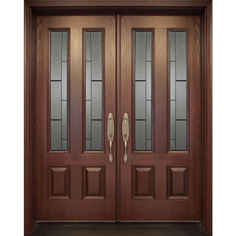 Exterior Fiberglass Door Double Door 4 Panels Model Fr18 4 Doors Exterior