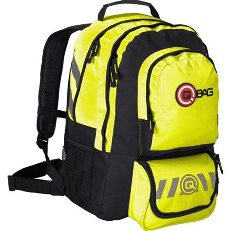 qbag backpack   liters storage space neon yellow