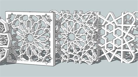islamic pattern skp large preview of 3d model of islamic pattern wine room